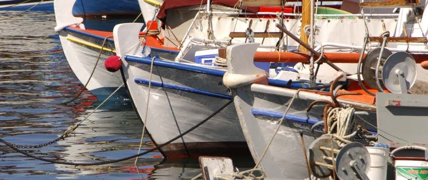 Ionian fishing boats by Rob Jewell