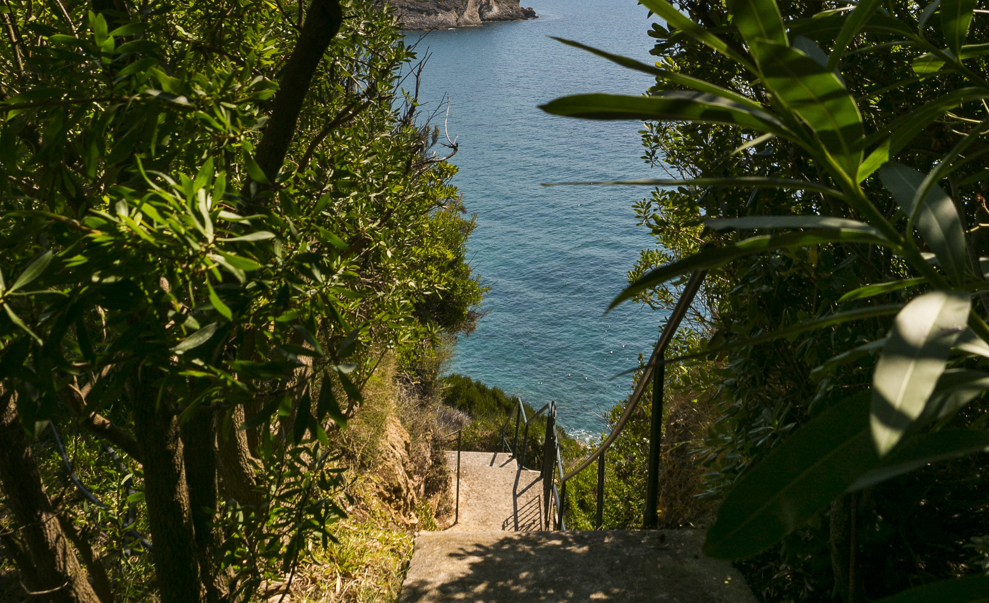 Private steps to the sea