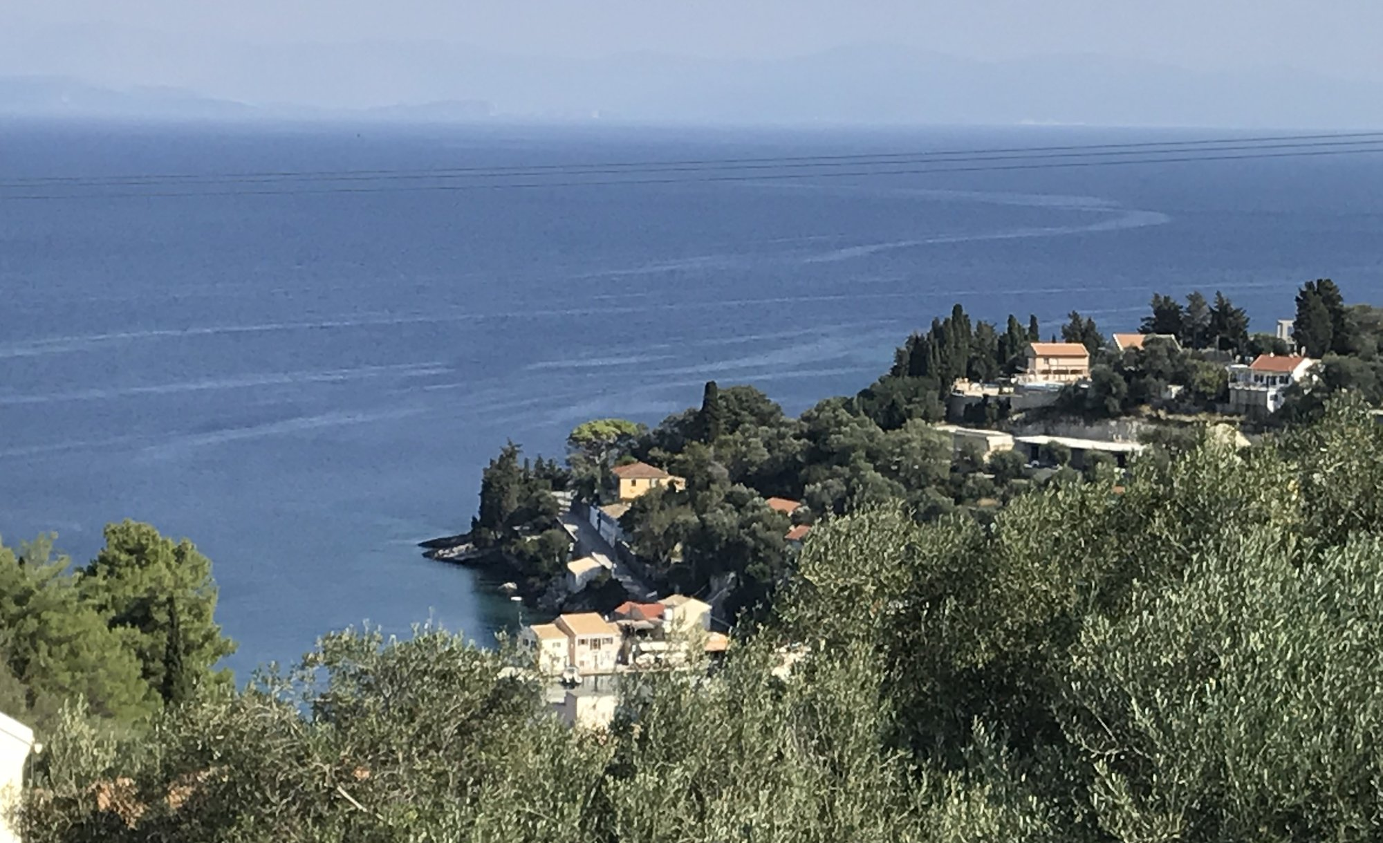 Albizia's view over Loggos Bay