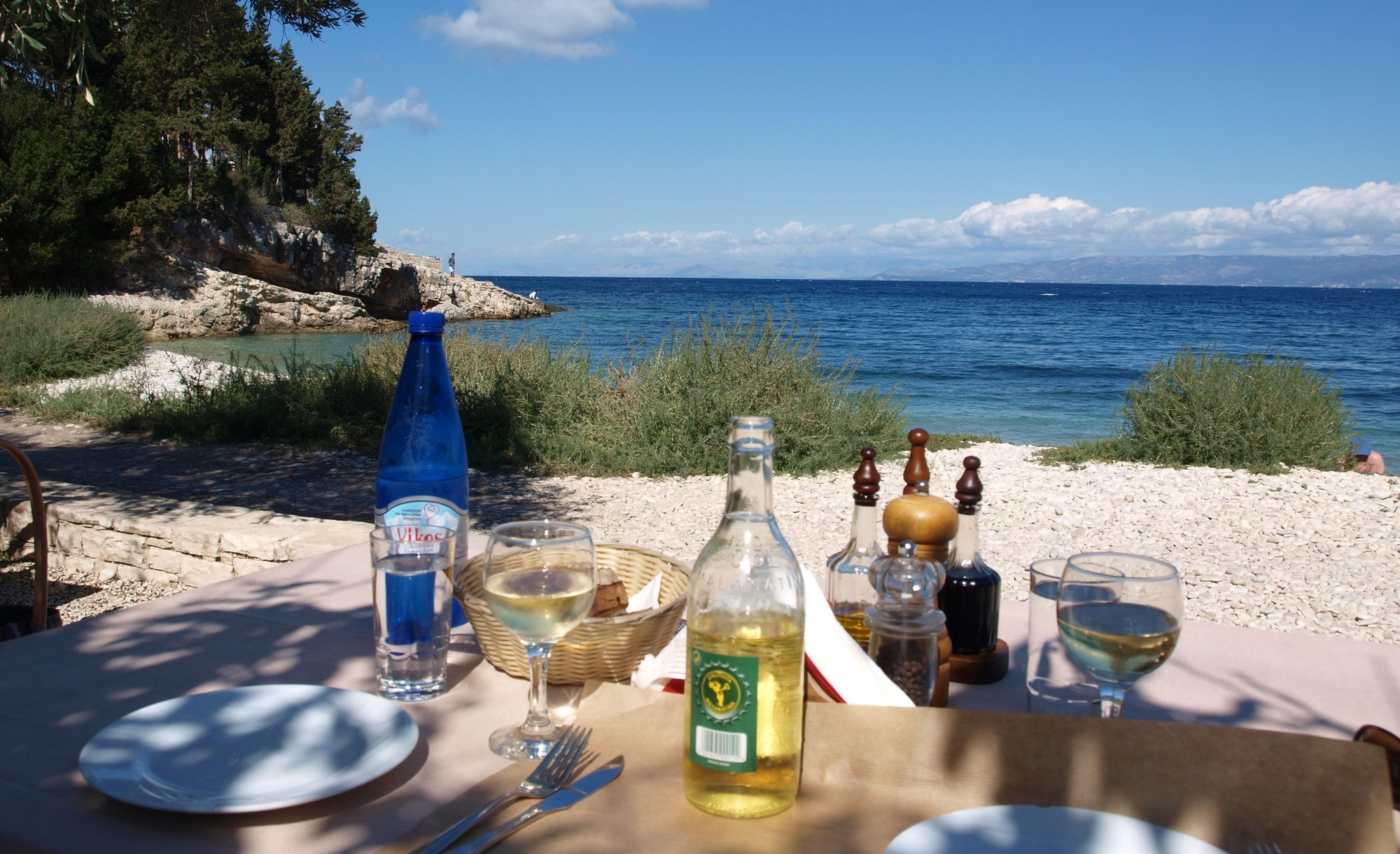 Nearby beach taverna