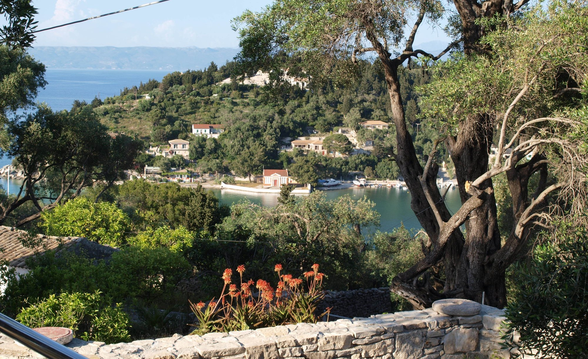 View over Lakka Bay
