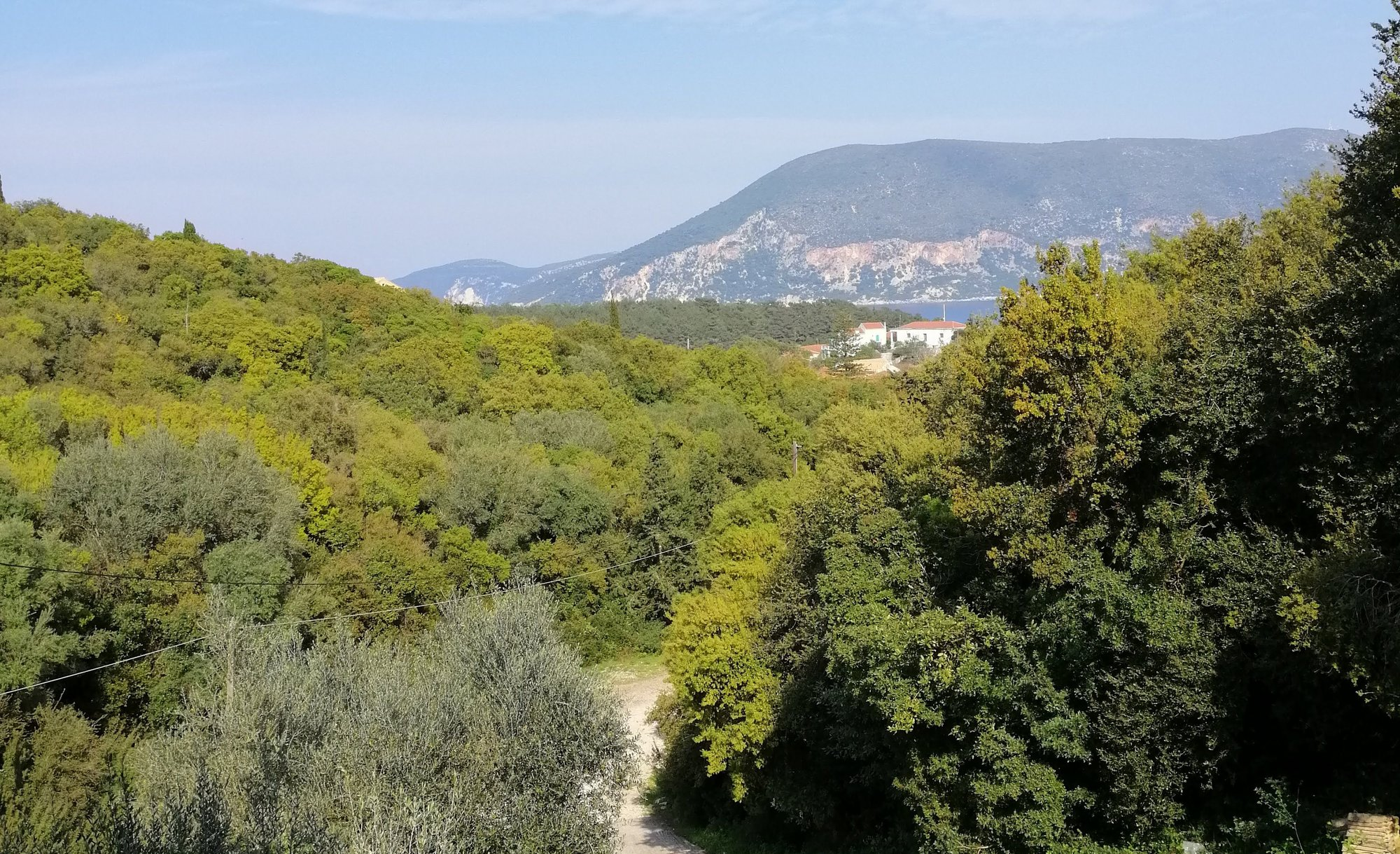 Fioroula's access track from Fiscardo