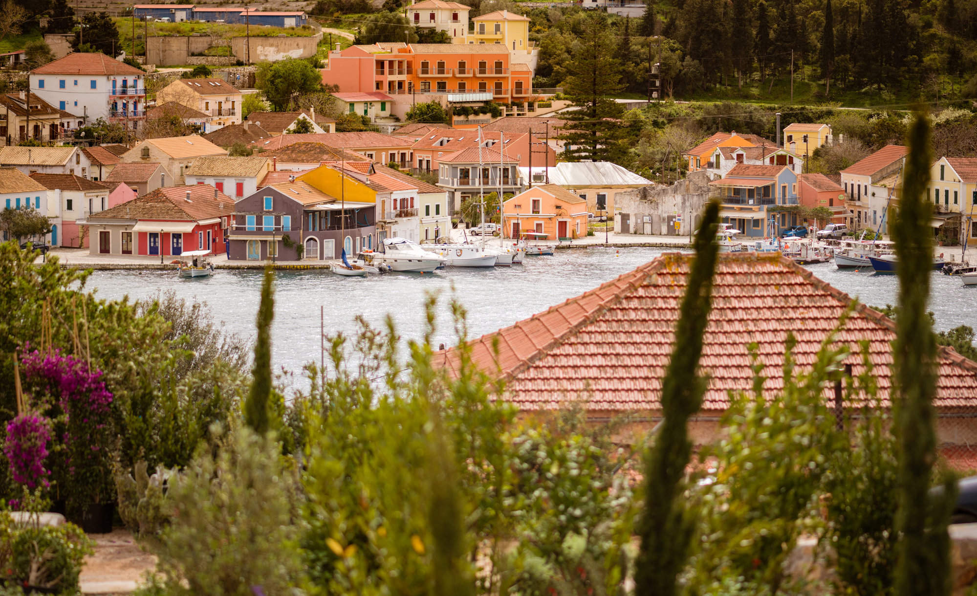 Views across Fiscardo Bay