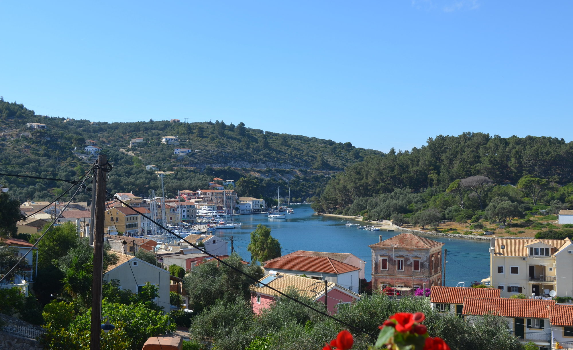 View over Gaios port