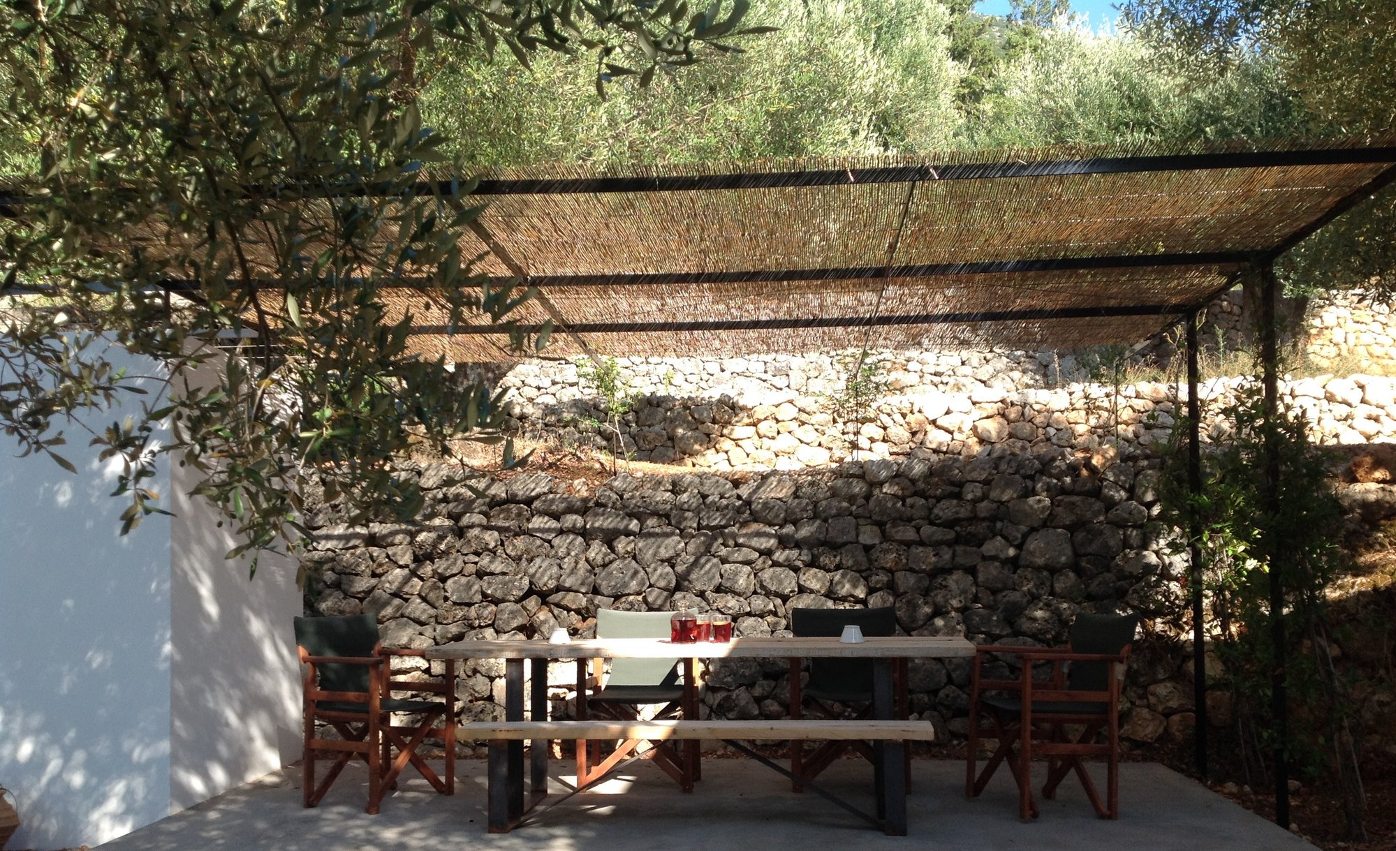 Olive grove dining terrace